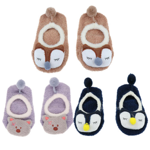 3 Sets Non Skid Ankle Cotton Socks with Grip for 2-4 Years Old Baby