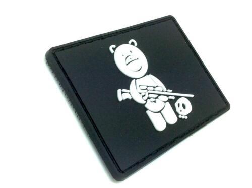 Sniper teddy bear noir airsoft pvc patch