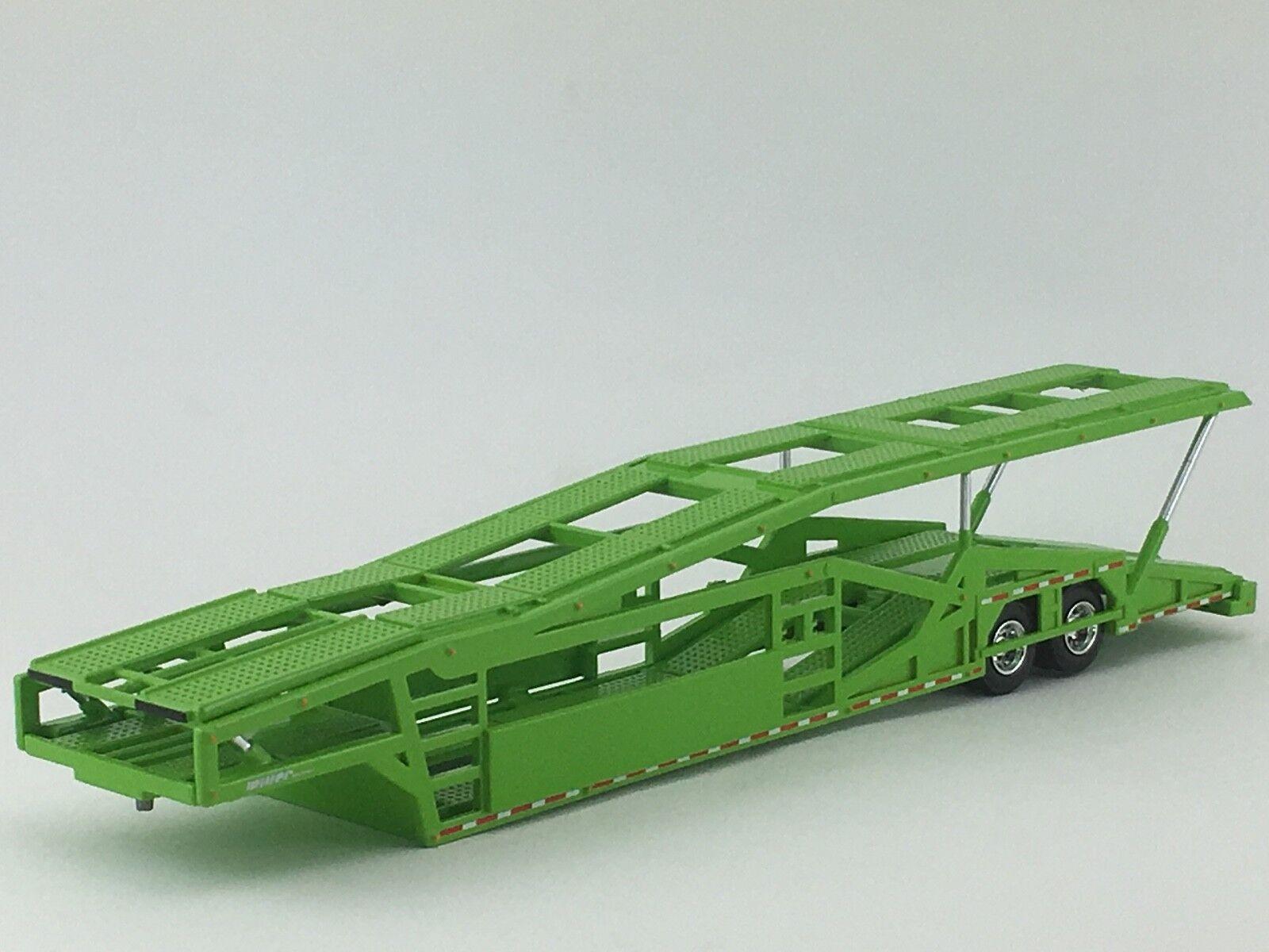 1 64 SPECCAST LIME GREEN 5 CAR MILLER CAR CARRIER TRANSPORT TRAILER