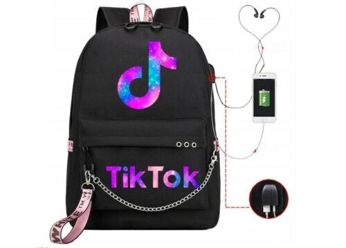 TikTok Rucksack Jungen Mädchen Schultasche Rucksack USB Ladebeutel Reisetasche.