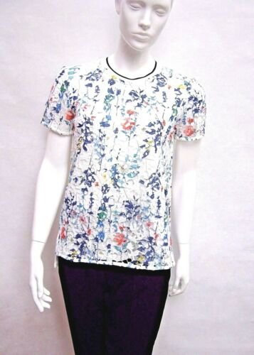 MARKS /& SPENCER PER UNA IVORY MULTI COLOUR CROCHET LACE JUMPER TOP 8 to 22