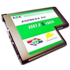Hidden USB 3.0 + eSATA II 2.0 Combo to Express Card ExpressCard 54 54mm Adapter