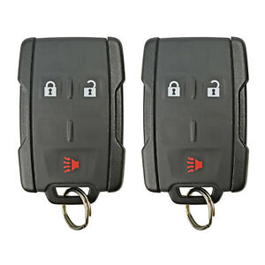 2 New Oem Keyless Entry Remote Fobs For GM 4 Button Oem Genuine Pair