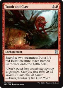 English x4 Tooth and Claw MTG Eternal Masters U M//NM