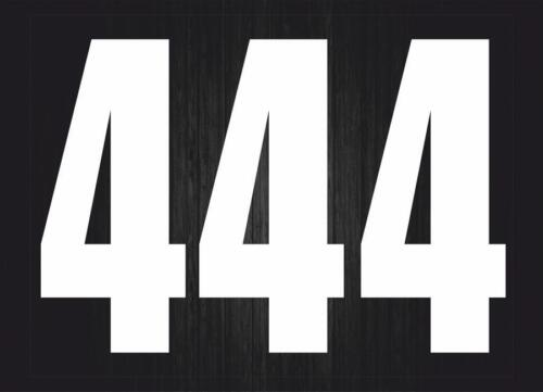 Set 3x Autocollant sticker voiture moto porte numero nombre chiffre course 4 bla