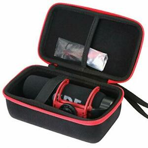 Storage Case for Rode VideoMic GO On Camera Microphone - Black/Red(only