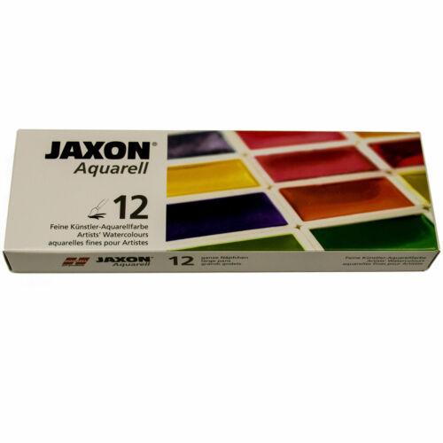 Jaxon Aquarell 12 ganze Näpfchen im Metallkasten