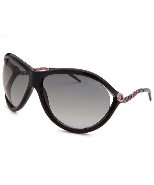 Roberto Cavalli Oval Sunglasses Rc853s CAPH 01b Shiny Black 853   eBay cbfb8082ea