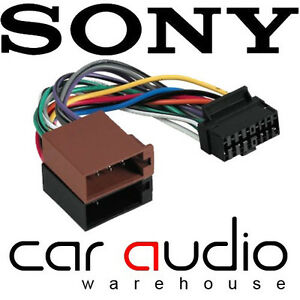 connects2 ct21so01 sony 16 pin iso car stereo radio wiring harness rh ebay ie