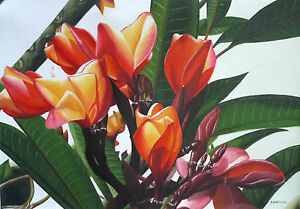 Hand-painting-Balinese-Bali-Flower-Great-Colours-168