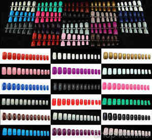 Selections-of-600pcs-European-Style-Full-Nails-Short-Whole-Nails