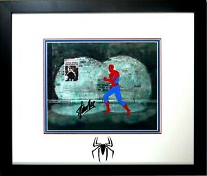 signed-STAN-LEE-Marvel-Disney-Spider-man-Hand-Painted-PRODUCTION-cel-1981-PSADN