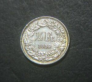 Switzerland 1959, 1/2 Franc