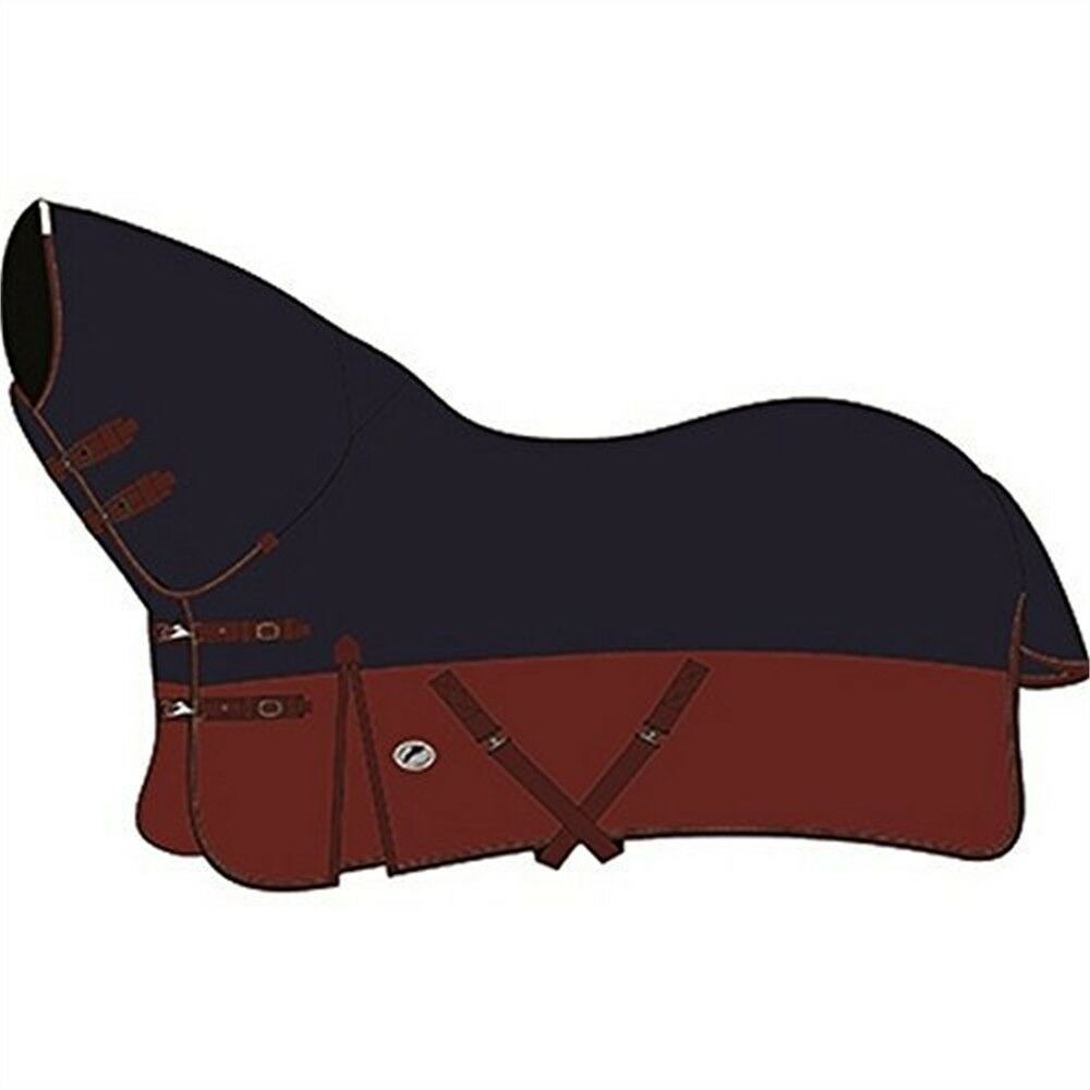 Jhl Essential Mediumweight Combo Turnout Rug 6ft Navy And Burgundy - Water