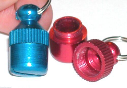 1 fill Secret open Bullet Metal Pendant tube urn locket bottle vial charm Blue