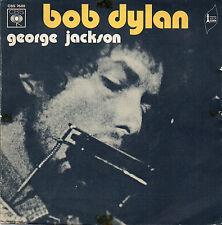"BOB DYLAN. GEORGE JACKSON. TRES RARE FRENCH PS 7"" 45 1971 POP FOLK"