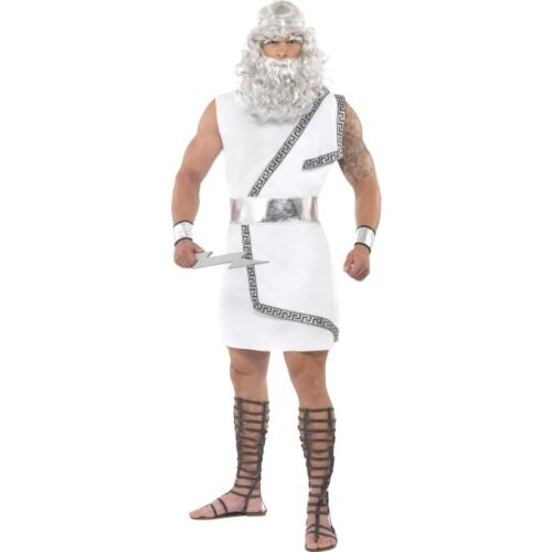 Men/'s Zeus Greek God Myth Legend Fancy Dress Costume Ancient Film Stag Night Fun