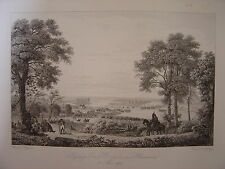 Grande gravure Passage du PO Pô vis-à-vis de PLAISANCE Piacenza le 8 mai 1796