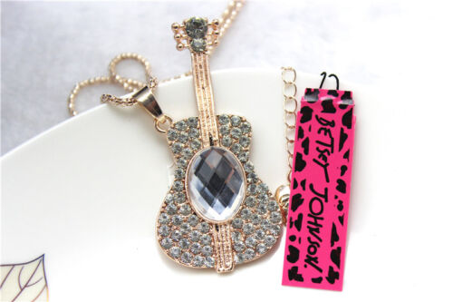 Betsey Johnson Fashion Necklace Crystal Lovely shape Pendant Sweater Chain #8