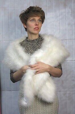 Molla Stola Spalla Mantellina Federnboa 80s True Vintage Scaf Shawl White Feathers-mostra Il Titolo Originale Quell Summer Thirst