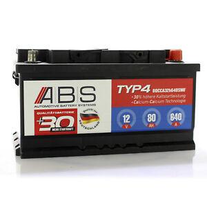 ABS Starterbatterie 12 Volt 80 AH 640 A WARTUNGSFREI Autobatterie Batterie