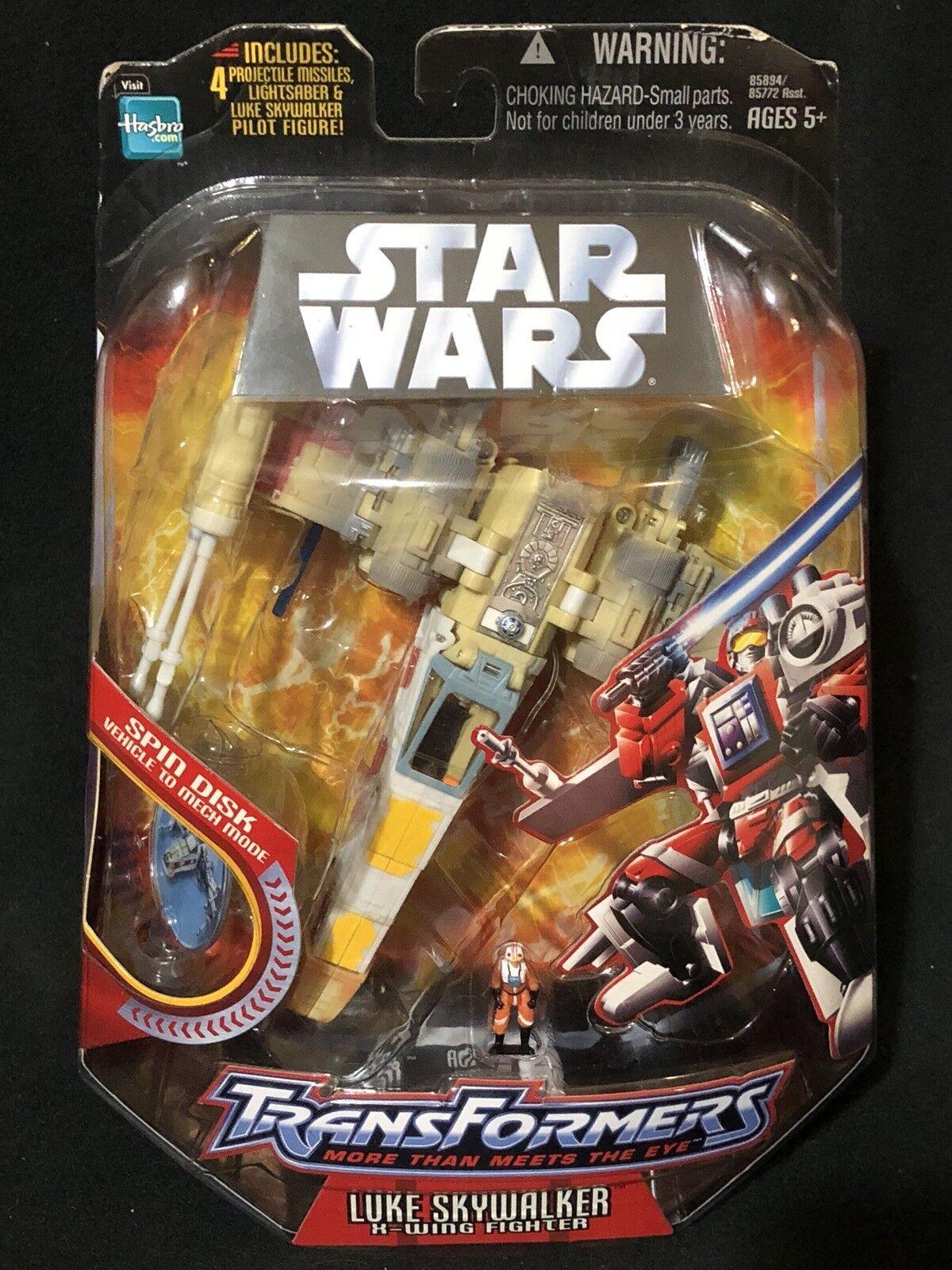 X-wing Fighter Luke Skywalker Star Wars Transformers Hasbro Nuovo Sealed