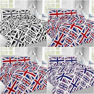 NEW-UNION-JACK-Printed-British-Flag-DUVET-COVER-BEDDING-SET-With-pillow-cases