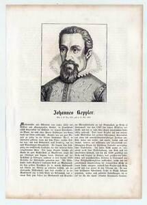 Johannes Keppler - Portrait-Holzschnitt 1854