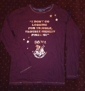 PRIMARK Harry Potter Looking for Trouble Pyjama Top 14-15 years red burgandy
