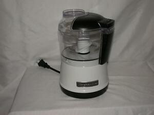 Kitchenaid household food chopper puree food processor white black ebay - Kitchenaid chefs chopper ...