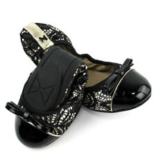 Butterfly Twists Ashley Black Disco Glitter Foldable Flat Shoes Size 7 8 10 New