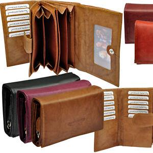 Damen-Geldboerse-25-Faecher-Rindleder-Portemonnaie-Geldbeutel-Geldtasche-12-Karten