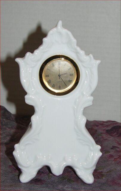 Gold Tone Quartz Mantel Shelf Clock Sublimation or Paint Blank or just White