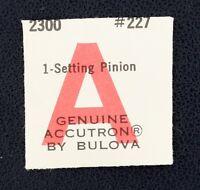 Old Stock Bulova Accutron 2300 Setting Pinion Watch Part 227
