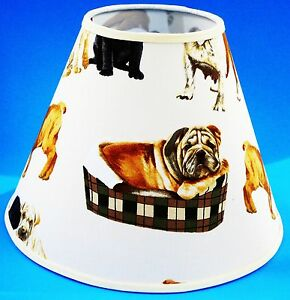 Dog on white handmade lampshade dogs lamp shade ebay image is loading dog on white handmade lampshade dogs lamp shade mozeypictures Image collections