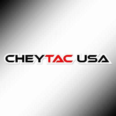 Cheytac Usa Vinyl Decal Logo Sticker 6 0 X 0 5 Black Red White Tri Color Ebay