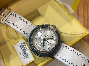 24441-Invicta-Bolt-Mens-52mm-Quartz-Chronograph-Silver-Dial-Leather-Strap-Watch