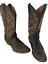 thumbnail 1 - Justin 2551 Men's Stampede Huck Brown Leather Western Cowboy Boots Size 9 D