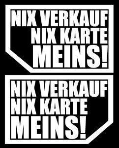 Details Zu 2x Nix Verkauf Nix Karte Meins Autoscheibe Aufkleber Auto Jdm Oem Tuning Expor