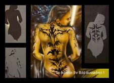 Airbrush Schablone A4 003 Tattoo Woman