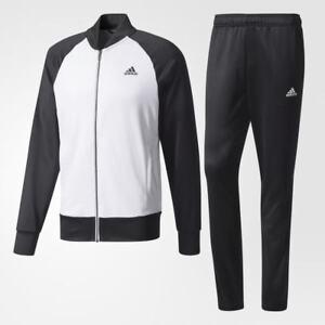 Neuf Adidas Homme Confortable Survêtement Noir Blanc BQ6669 Veste et ... 9890cc71d9f