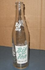 VINTAGE OLD ANTIQUE CLEAR GLASS BIG TEN MAIN LINE SODA BOTTLE PLEASANT CITY OHIO