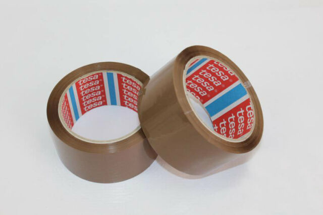 6 Roll Tesa Packing Tape 64014 PP Quiet Adhesive Brown 50mm x 66m