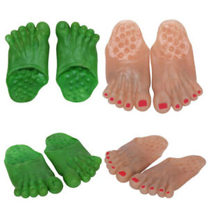Adult-Clown-Big-Slippers-Ogres-Hobbit-Caveman-Jumbo-Bare-Feet-Costume-Accessory