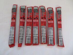 (7) OSTRIM High Protein Beef & Elk Snack Stick Sweet & Spicy Flavor 1.5 Oz Each