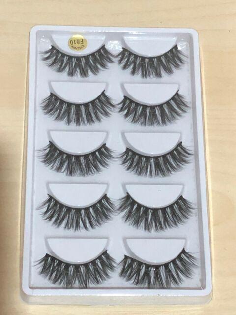 Mink Natural Thick False Fake Eyelashes Eye Lashes Makeup Extension 3D 5 Pairs