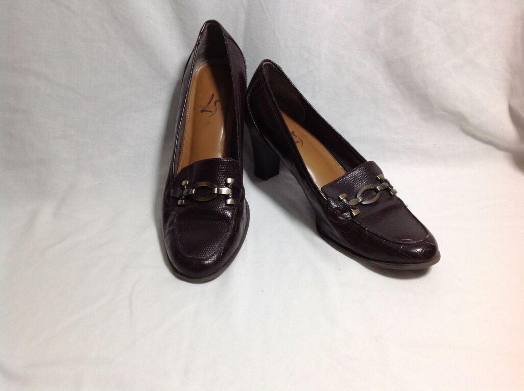 consegna rapida Vintage Lifestride Casual Leather High Heel Heel Heel scarpe Donna  Dimensione 8W  vendita scontata online di factory outlet