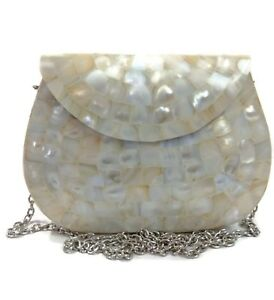 Handmade-Shell-Mother-Of-Pearl-Bag-Metal-Purse-Stone-Wallet-Sling-Bag-Clutch