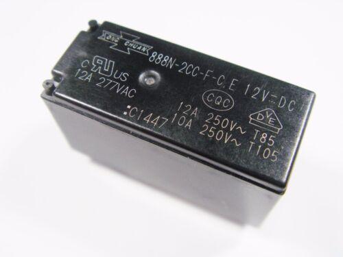 Relais 12V 2xUM 277V 250V 12A Song Chuan 888N-20C-F-C E 12V-DC #15R71