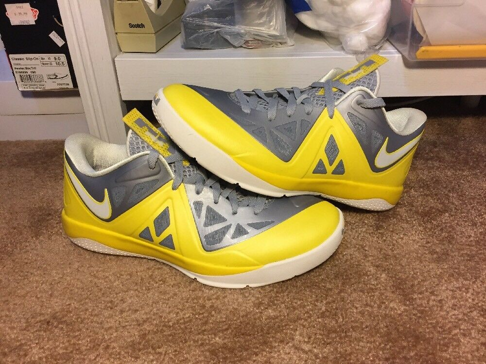 New Nike Lebron Samples Grey Yellow Size 9